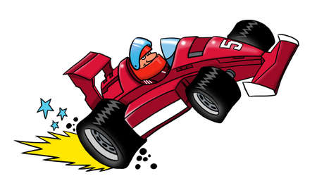formula car: Cartoon car Formula 1