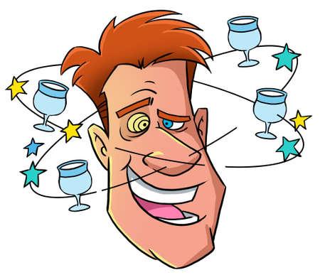 Funny drunk man Zdjęcie Seryjne