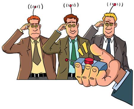 boss with remote control  Zdjęcie Seryjne