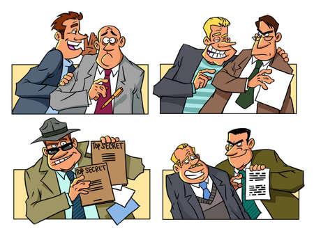 The secret life of spies Banque d'images