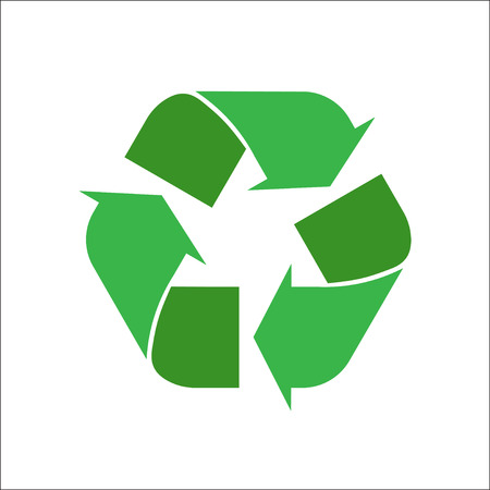 recycle logo: recycle logo on a white background. green environmental sign. simple vector illustration. eps 10. green vector isolated