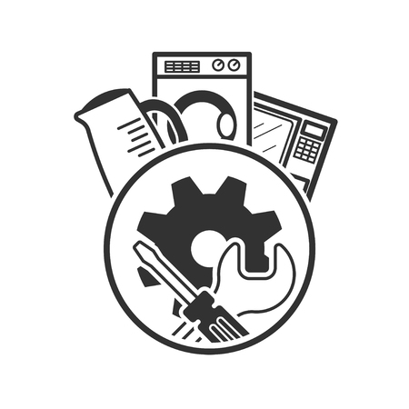 reconditioning: Repair icon. service symbol. Vector illustration isolated on a white background.