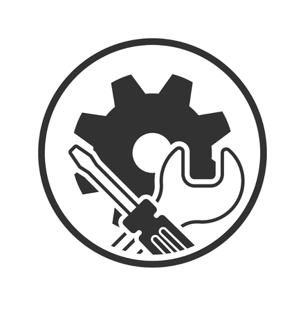 Repair icon. service symbol. Vector illustration isolated on a white background.