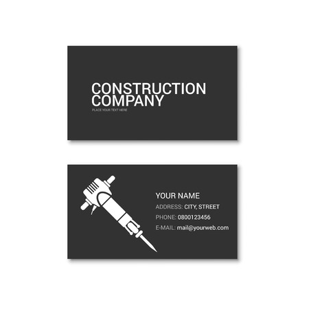Simple business card. Technical support. Vector illustration isolated on white. Vetores