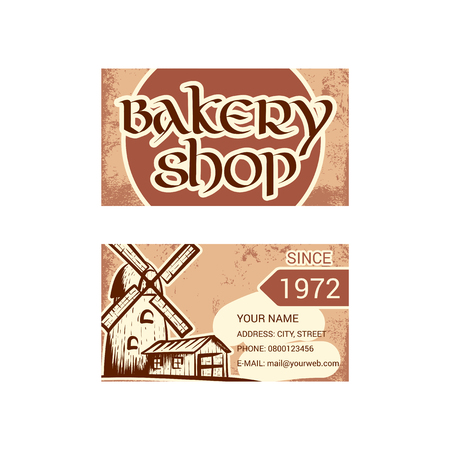Business card for bakery shop 일러스트