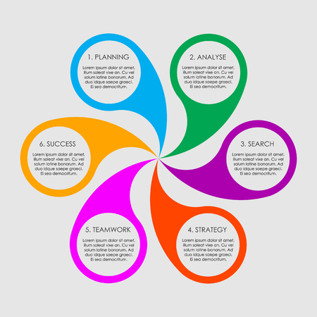 Circle infogrphics diagram for business.