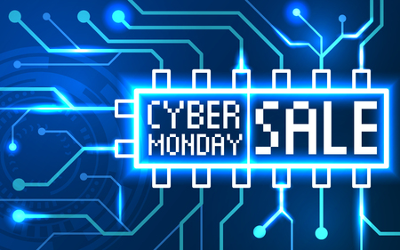 Cyber Monday event sale banner.