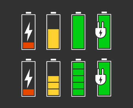 Battery charging icon. Ilustrace