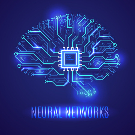 Brain neural network icon. Ilustrace