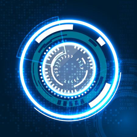 vista: Abstract technology circle icon. Illustration