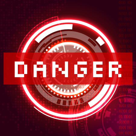 Danger icon illustration. 向量圖像