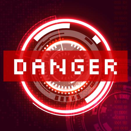 trojan: Danger icon. Illustration