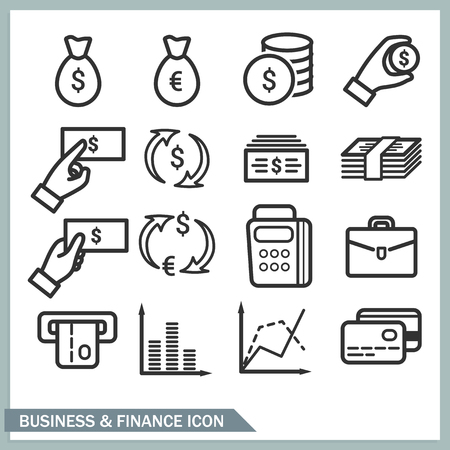 Business and finance icons.