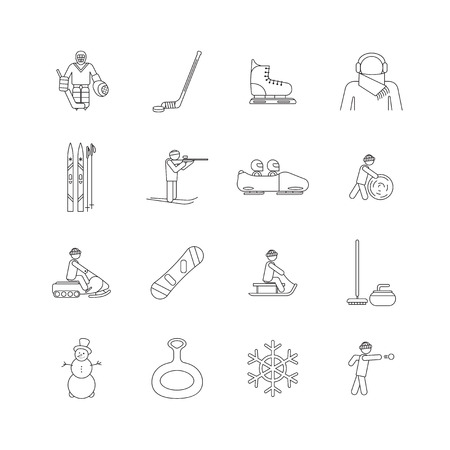 Winter game and sport icons. Ilustrace