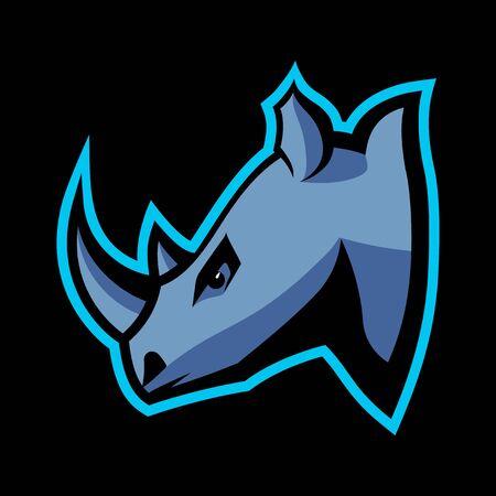 Rhinoceros head icon.