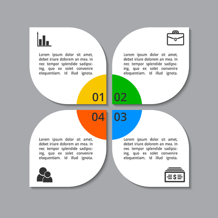 Infographic for business process template. Vector illustration isolated on a white background. Ilustrace