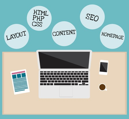 webhosting: webdesign infographic