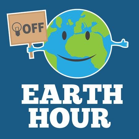 earth hour 向量圖像