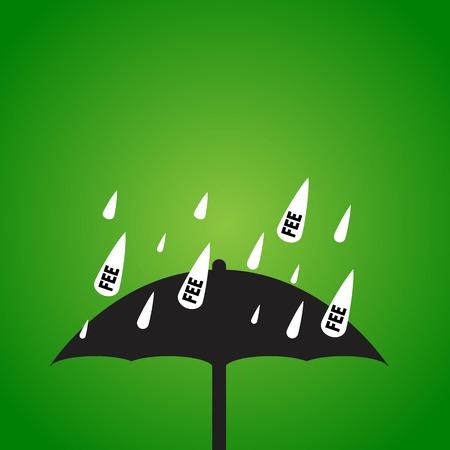 honorarios: lluvia cuota