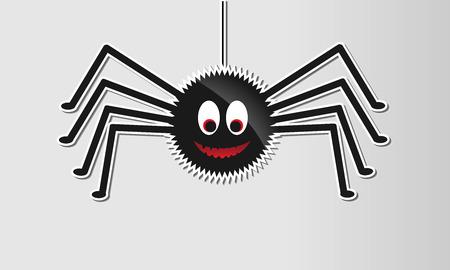 halloween spider: glossy halloween spider Illustration