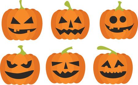 Halloween-Kürbis-Set Vektorgrafik