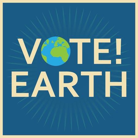vote earth Vector