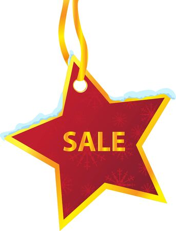 winter sale: winter sale labels_star_hanging
