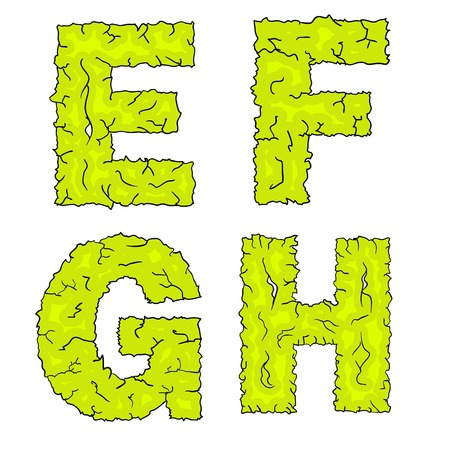 haloween: halloween grimy letters efgh