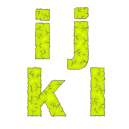 grimy: halloween grimy letters small letters ijkl Illustration