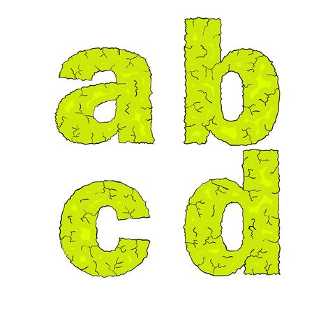grimy: halloween grimy letters small letters abcd