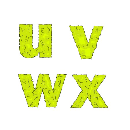 grimy: halloween grimy letters small letters uvwx