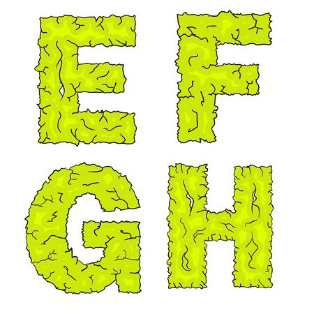 grimy: halloween grimy letters efgh