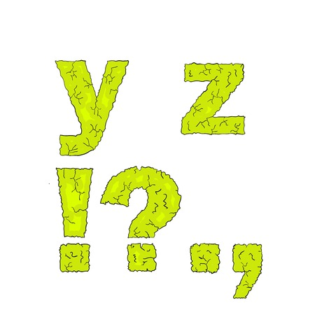 grimy: halloween grimy letters small letters yz