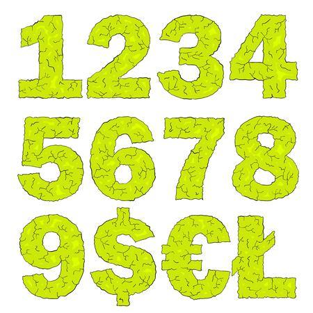 numbers: halloween grimy numbers