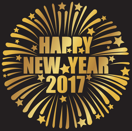 new year party: happy new year 2017 greeting card