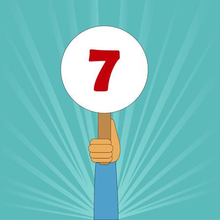 punteggio perfetto 7 Vettoriali