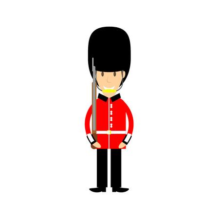 buckingham palace: buckinham palace guard Illustration