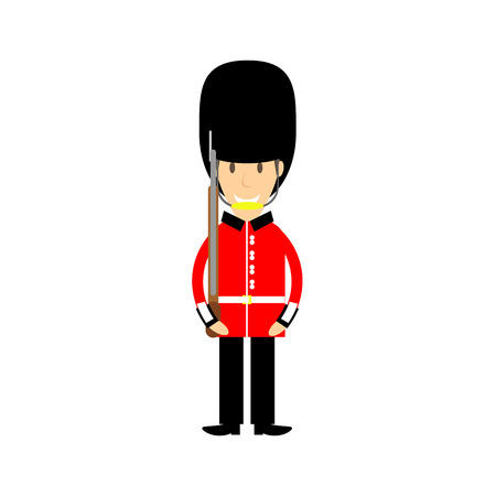 buckinham palace guard Illustration