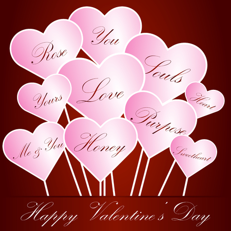 valentine day greeting card Illustration