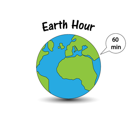 Earth hour banner Illustration