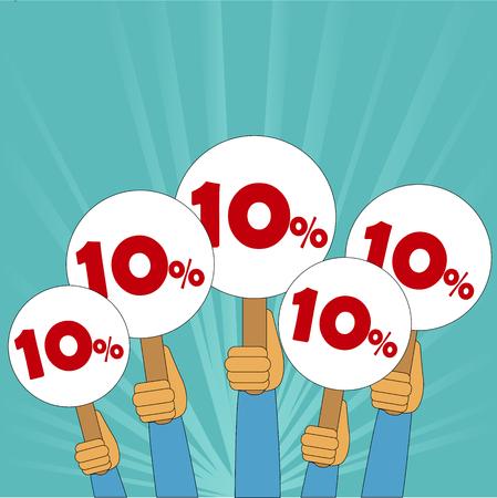 10 percent discount banner