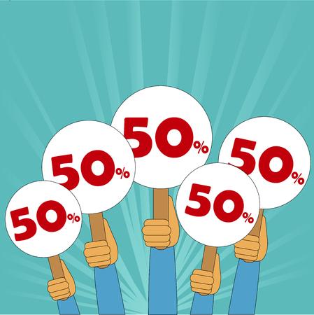 50 percent discount banner