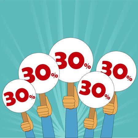 discount store: 30 percent discount banner
