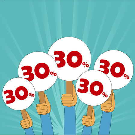 30 percent discount banner