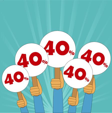 40 percent discount banner
