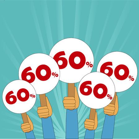 article marketing: 60 percent discount banner Illustration