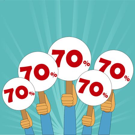 70 percent discount banner