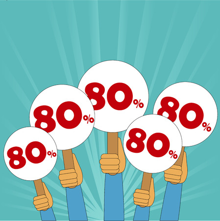 discount store: 80 percent discount banner