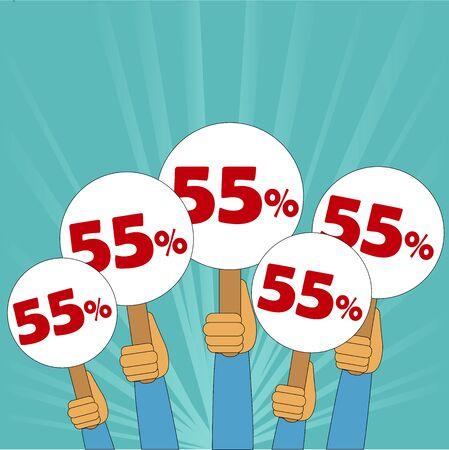 discount banner: 55 percent discount