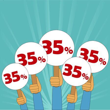 35 percent discount Illusztráció